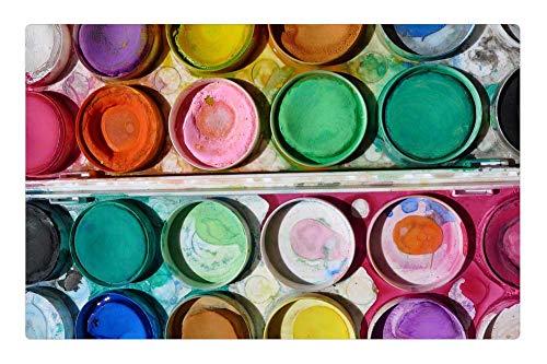 Tree26 Indoor Floor Rug/Mat (23.6 x 15.7 Inch) - Paint Art Paintbox School Kids Creative Artistic