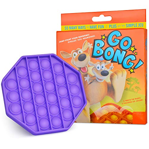 Proke Push Pop Bubble Sensory Fidget Toy, Autism Special Needs Stress Reliever Squeeze Sensory Toy for The Old/The Young, Children Popping Fidget Toy - Purple