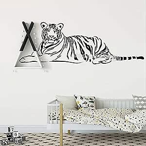 Tigre de reposo calcomanía tatuajes de pared India Tigre vinilo ...