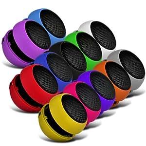 Wiko Cink Peax 2 Dual-SIM 12 Color Embalaje Mini Cápsula Viajes recargable Loud 3.5mm Altavoz Bass Jack a jack de entrada (Negro, Blanco, Azul, Rojo, Verde, Amarillo, rosa fuerte, púrpura, naranja, gris, púrpura Light & Baby Blue ) Por Spyrox