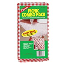 Coghlan's 0660 Picnic Combo Pack Tablecloth with 6 Clamps
