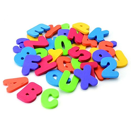 GUAngqi 36 Numbers and Letters Puzzle Develop Intelligence Toy In The Water bath