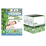 The Greenzone Collection Bundled Bamboo Viscose XL Twin Mattress Protector with Jersey top and Queen Pillow Protectors