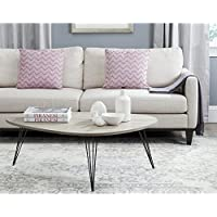 Safavieh Home Collection Wynton Oak and Black Coffee Table