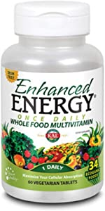 KAL Enhanced Energy Iron Free Tablets, 60 Count