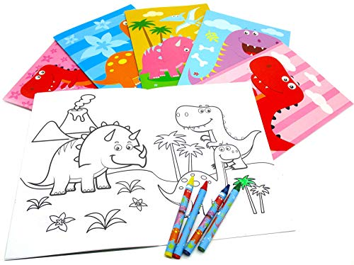 - Dinosaurs Coloring Books with Crayons Party Favors Set of 12
