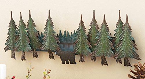 BLACK FOREST DECOR Alpine Bear Metal Wall