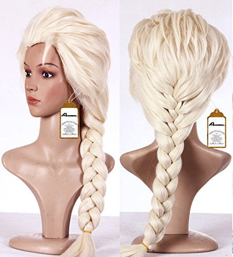 Anangel Free Hair Cap + Blonde Cosplay Wig Party Braid Hair Wigs