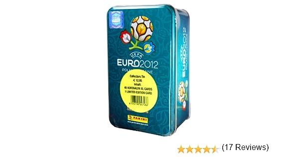 Panini 04748 Adrenalyn XL-Euro 2012 - Caja de Cartas (Incluye 8 Sobres y 1 Carta de edición Limitada), diseño de Eurocopa 2012: Panini Euro Adrenalyn Tin: Amazon.es: Juguetes y juegos