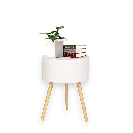 Atmosphera 2 en 1 Table Basse Blanc Style Scandinave Coffre de Rangement