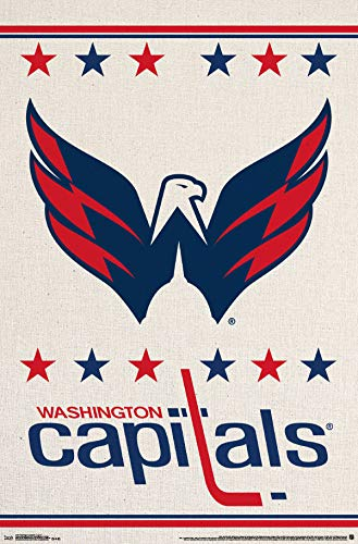 Trends International Washington Capitals-Logo Mount Bundle Wall Poster, 22.375