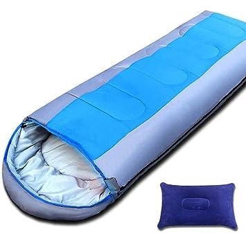 LIUDADA Saco de Dormir - Saco de Dormir para Exterior Saco de Dormir Caliente Adulto 2.20kg Azul (Color : Azul): Amazon.es: Deportes y aire libre