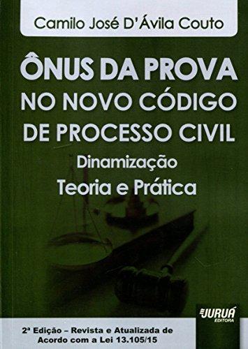 Ônus da Prova no Novo Código Processo Civil. Dinamização. Teoria e Prática