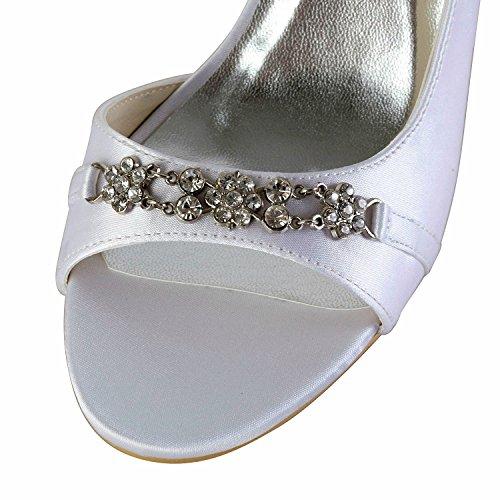 blanc Heel 8cm Minitoo Sandales White pour femme pFntfHY