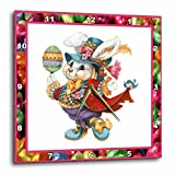 Cheap 3dRose dpp_14857_1 Easter Bunny-Wall Clock, 10 by 10-Inch