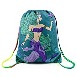 Mermaid Drawstring Backpack Bag for Kids Boys Girls Teens Birthday, Gift String Bag Gym Cinch Sack for School and Party