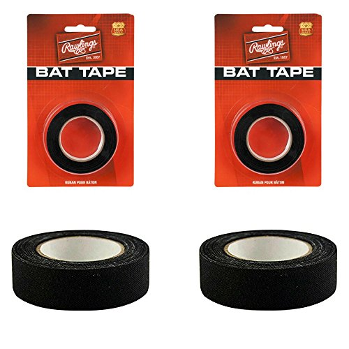 Black Baseball/Softball Bat Tape from Rawlings (2-Packs)