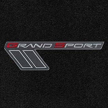 C6 Corvette Ebony Black 2pc Front Floor Mat Set Silver /& Red Grand Sport Logos