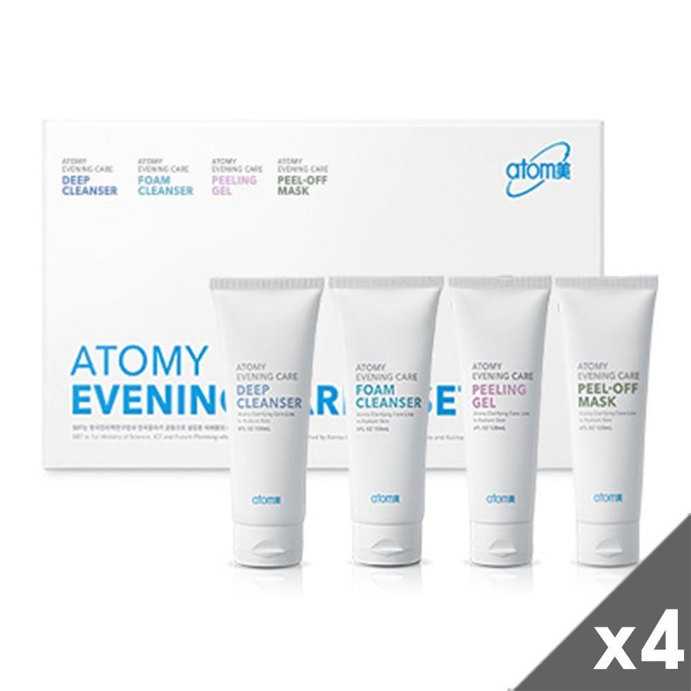 [Atom美 アトミ/ Atomy] Atomi Evening Skin Care 4pcs set x 4/イブニングケア4種+[Sample Gift](海外直送品)   B01MTX838X