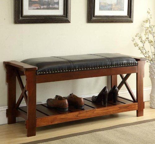 Cheap All Things Cedar HR360 Entryway Bench, Cherry