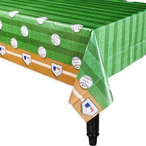 Amscan Rawlings Baseball MLB Plastic Table Cover, 54 x 102