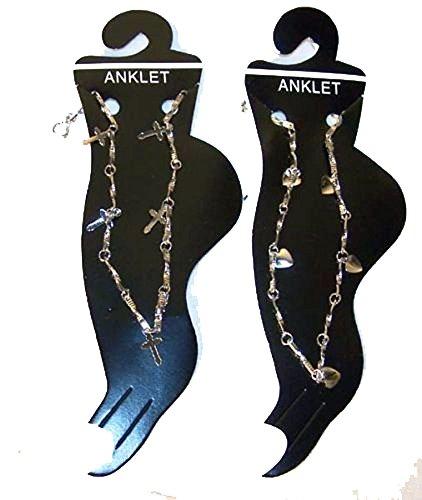 Noveltees Wholesale - 12 Assorted Design Ladies Silver Chain -