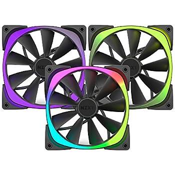 NZXT RF-AR140-T1 AER RGB140 Triple Pack 140MM RGB Case Fan 500-1500 RPM 23.9-71.6 CFM 22-33DBA 4-PIN PWM