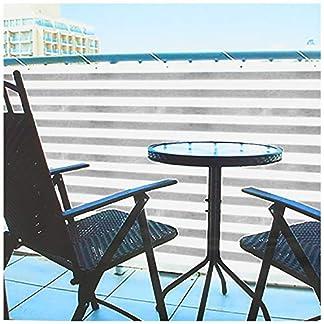 COM-FOUR® Paravento Opaco per balconi – Cinghie per balconi con Corda per Il Fissaggio – Adatto Anche Come frangivento e Protezione Solare (1 Pezzo – 600 x 75 cm – Grigio/Bianco)