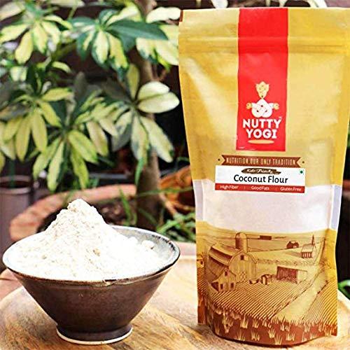 Nutty Yogi Gluten Free Coconut Flour 500 gm, Atta Grain Free, Delicious, Healthy Alternative, Goodness of Coconut, Good…