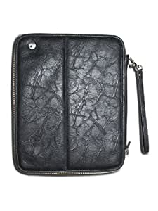 """Innovic Multi Functional Handmade Leather Zip Bag for iPad 2 and 3 16gb, 32gb, 64gb edition and also fit with Kindle Fire HD 8.9"""""""