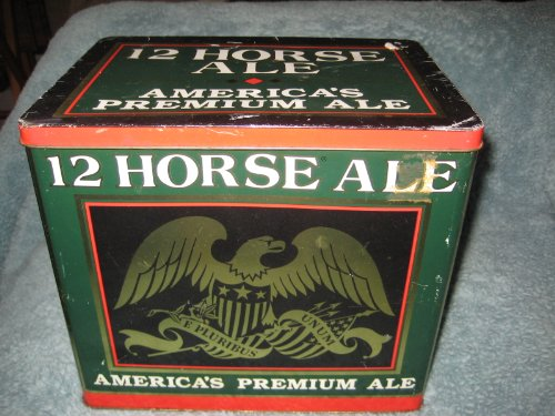 Genesee 12 Horse Ale America's Premium Ale Large 9 x 6 1/2 x 8 Inch Collectible Tin (Genesee 12 Horse)