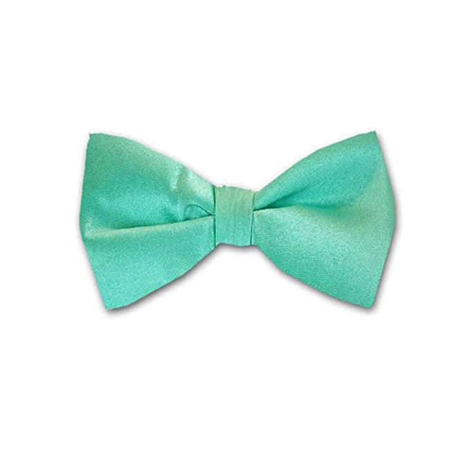 6357af1ed8e3 Image Unavailable. Image not available for. Color: Aqua - Turquoise Solid  Color Self-Tie Bow Tie