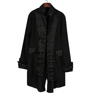 Abrigo de Hombre, Primavera Escudo de los Hombres Retro Chaqueta de Gótica Steampunk Corte Uniforme Traje Fiesta Outwear Sudadera BBestseller: Amazon.es: ...