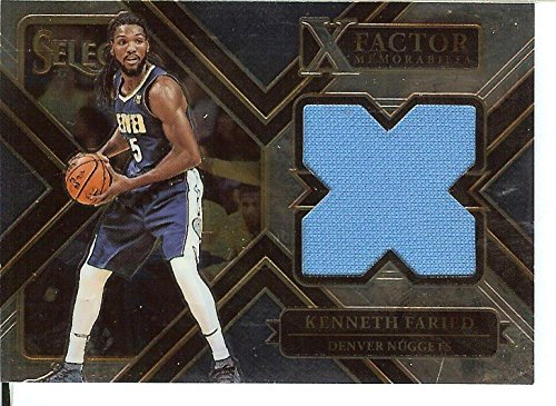 Basketball NBA 2017-18 Select X-Factor Memorabilia #30 Kenneth Faried MEM Nuggets from Select