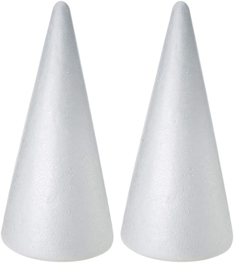 SUPVOX 10pcs Foam Cones Styrofoam Cones Christmas Tree Cone Craft Foam Balls for DIY Modeling Craft Flower Arrangements Table Decorations Centerpieces 10x7cm