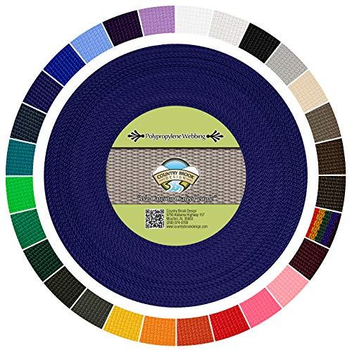 - Country Brook Design - Polypropylene Webbing (1 Inch) (Royal Blue, 25 Yards)