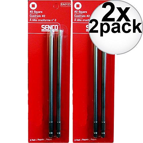 Senco EA0123#2 Square Drive Bits 2 x 2-Pack by Senco