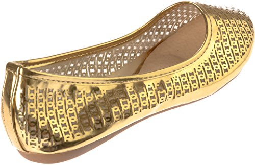 Stone Foldable Egg Flats Ballet Women Rhine Gold Shoes Roll qv71xWn