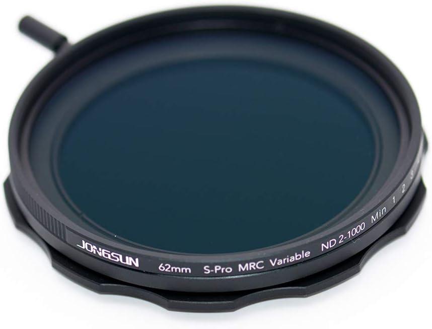 JONGSUN 58mm Variable ND Filter Lens Cloth Kit,Camera Neutral Density Filter More Than 10 Stop ND2-ND1000 Stepless Adjustment Graduated S-Pro MRC 16 Layers Nano Coatings