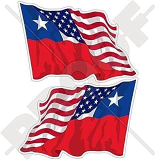 USA United States America-BOSNIA HERZEGOVINA Flying Flag 50mm Stickers Decals x4