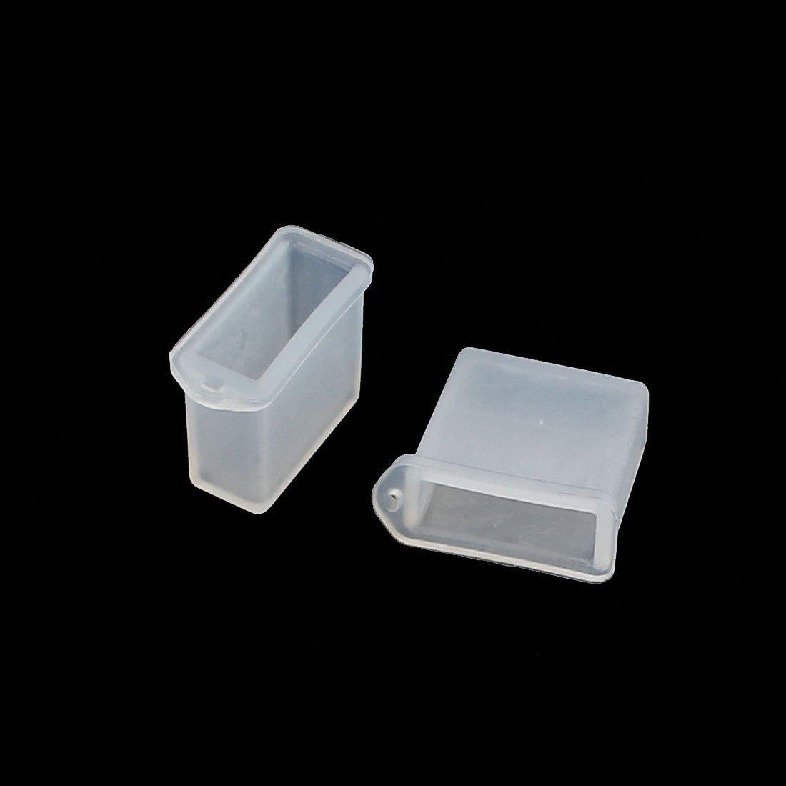 Amazon.com: Masculino DealMux 20Pcs Limpar poeira plástico Capa Para Digital Produto USB Connector A2: Electronics