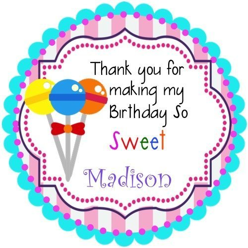 40 Sweet Shoppe Personalized Birthday Stickers 2