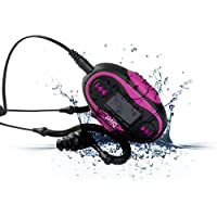 Diver 4GB Waterproof MP3 Player with LCD Display and Earphones (Pink)