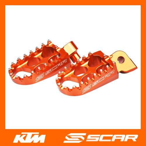Scar Standard Footpegs (Orange) S5211OR (Footpegs Standard)