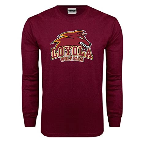 online store e9167 8a178 Amazon.com : Loyola New Orleans Maroon Long Sleeve T Shirt ...