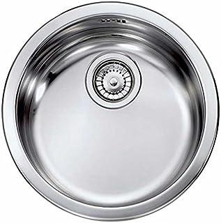 Cm lavello incasso cinzia rotondo 43,5 1 vasca antigraffio - 011999 A