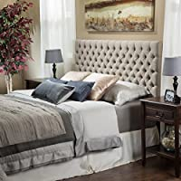 Jezebel Queen Button Tufted Fabric Headboard by Christopher Knight Home