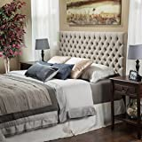 Jezebel Queen Button Tufted Fabric Headboard by Christopher Knight