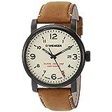 Wenger 01.1041.134 Men's Urban Metropolitan Beige Dial Brown Leather Strap Watch