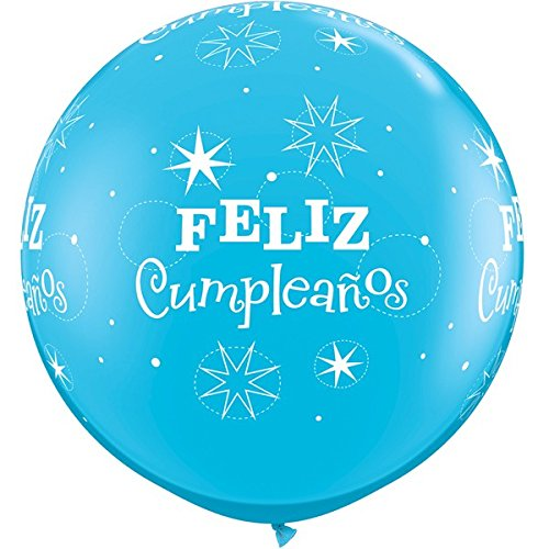 Amazon.com: Qualatex Feliz Cumpleanos Robins Egg Azul ...